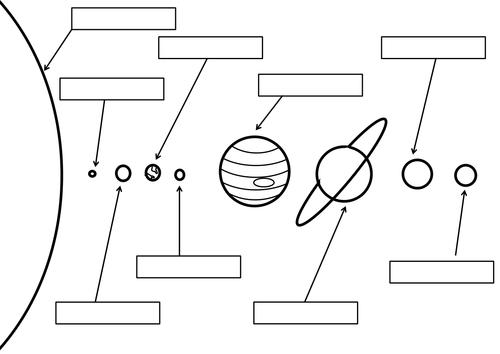 Printables Solar System Worksheets label the solar system worksheet by brynmarshall teaching resources tes