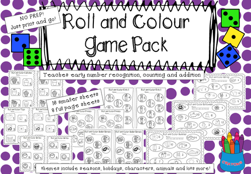 Roll and Colour Game Pack