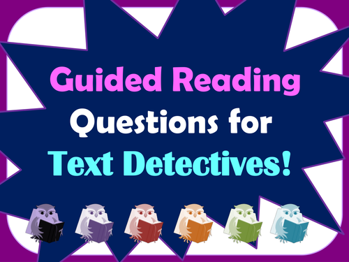 Text detectives: AF question cards for guided reading