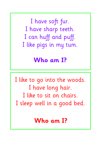 EYFS Guided Reading Pack - Traditional Tales Character Matching Activity