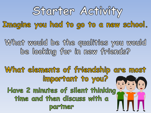 Friendship & Social Skills KS2 SEAL and PSHE Complete Lesson