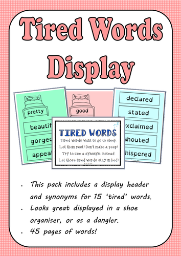 'Tired Words' Synonym Display