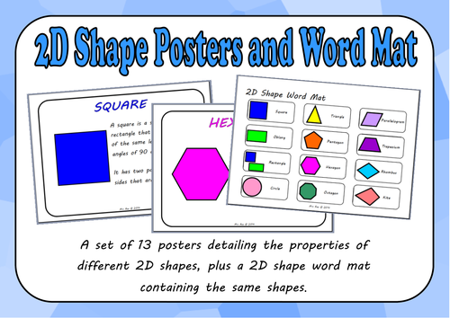 2D Shape Posters and Word Mat
