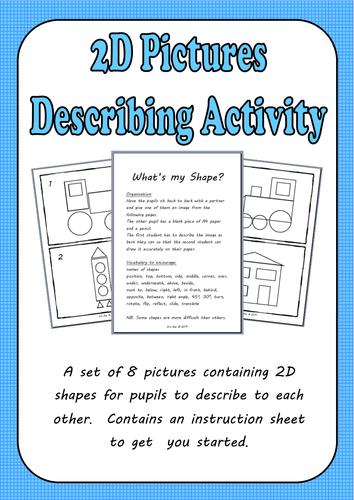 Describing 2D Shapes Activity