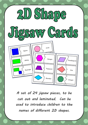 2D Shape Matching and Jigsaw Cards