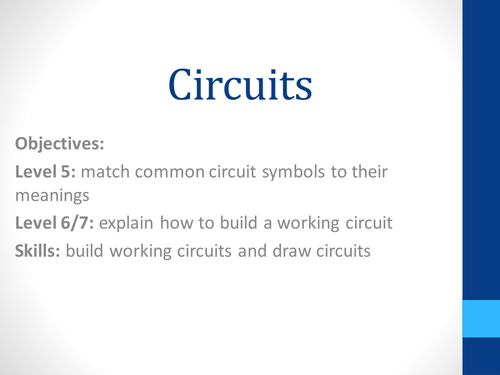KS3 Introduction to Circuits by CatBuckle - Teaching Resources - Tes