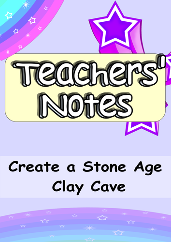 Beautiful Stone Age Clay Lesson -  Cross-Curricula with Reading Comprehension Element KS1 or KS2
