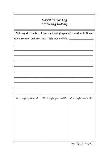 Narrative Writing - Setting (Years 7 and 8)