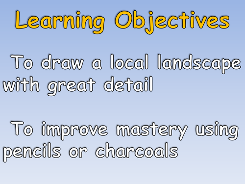 Local Area Study or Nature Art 6 Lesson Unit with Engaging Cross-Curricula Elements KS2 or KS1
