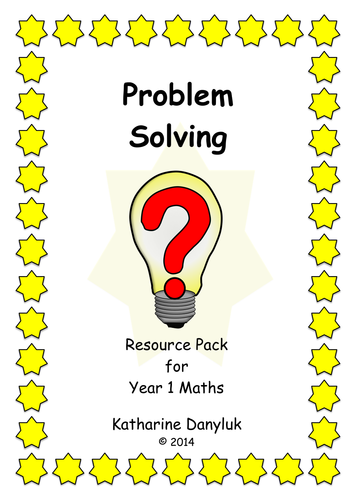 Problem Solving and Activities Resource Packs for Year 1 Maths