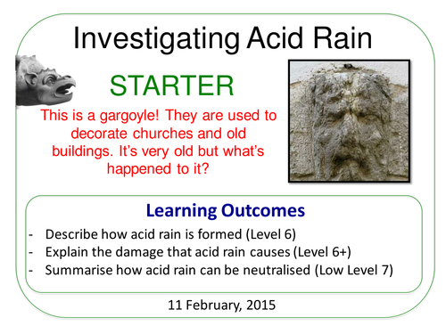 Year 7: Acid Rain (Understanding Chemical Changes 7.4)