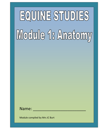EQUINE STUDIES - A LANGUAGE  CROSS CURRICULAR THEME