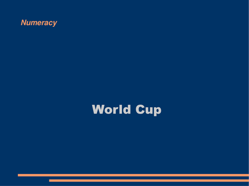 World Cup - Data Handling Lesson