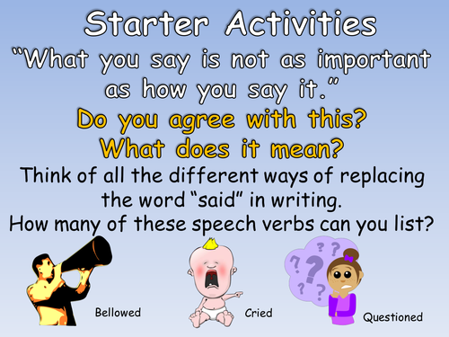 Year 3 Inverted Commas to Punctuate Direct Speech (Year 3 or KS2 Speech Marks) Complete Lesson