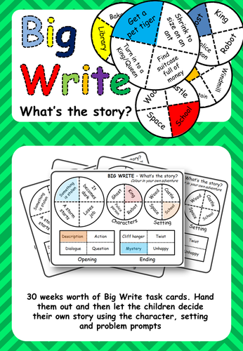 Big Write Story Prompts: What's the story?