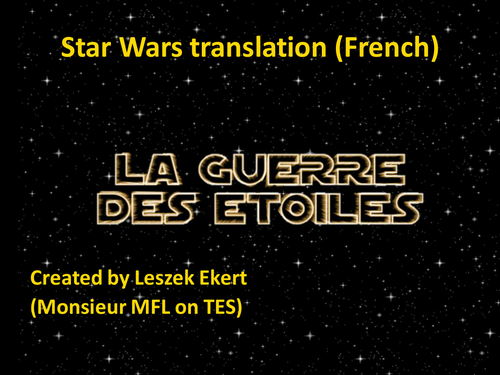 Star Wars translation - French