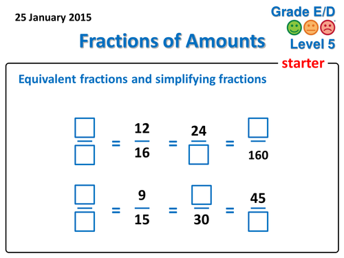 Finding a Fraction of an Amount