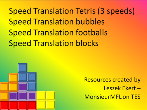 Tetris speed translation - disappearing words