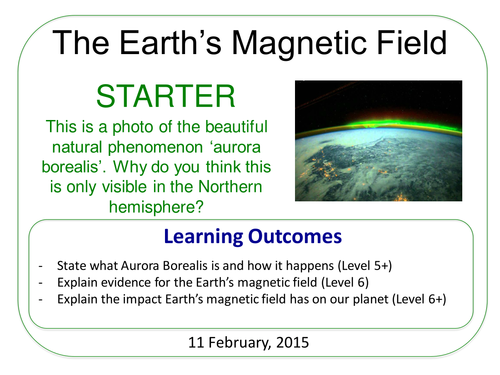 Year 7: Earth's Magnetic Field (Magnetism & Electricity 7.5)