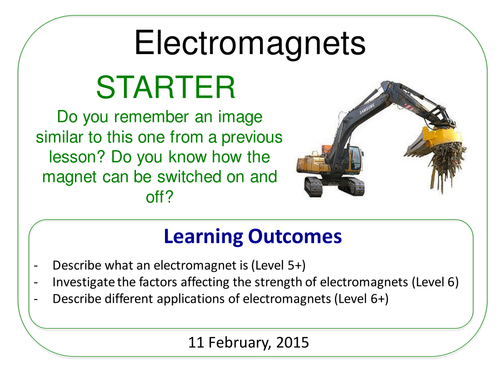 Year 7: Electromagnets (Magnetism & Electricity 7.5)