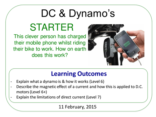 Year 7: DC Motors & Induced Current (Magnetism & Electricity 7.5)