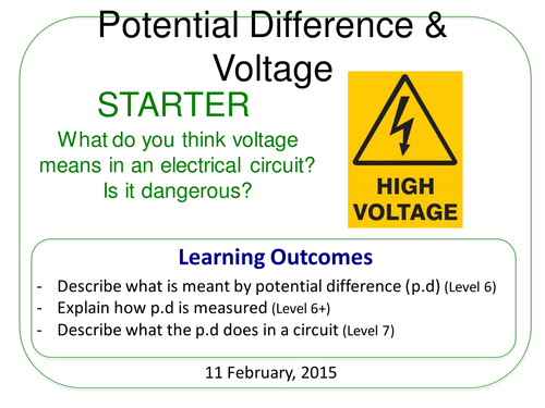 Year 7: Potential Difference/Voltage (Magnetism & Electricity 7.5)