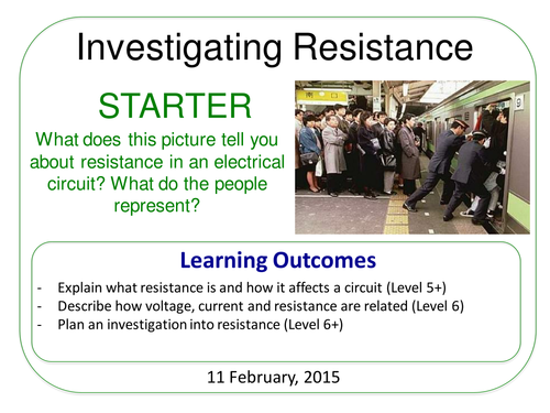 Year 7: Investigating Resistance (Magnetism & Electricity 7.5)