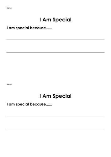 I Am Special - EYFS activity