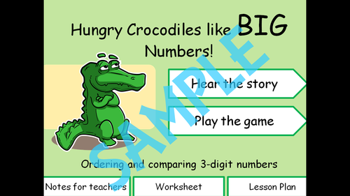Comparing numbers with Christopher the Crocodile.