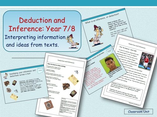 Deductions and Inferences (Years 7 and 8)