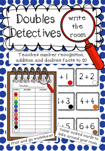 Doubles Detective - a write the room activity
