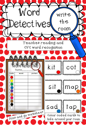 Word Detectives - a write the room activity