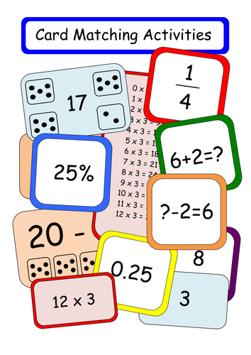 Number Card Matching Activity for KS1 Maths