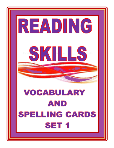 READING SKILLS  VOCABULARY AND SPELLING CARDS SET 1