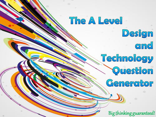 The A Level Design and Technology Question Generator