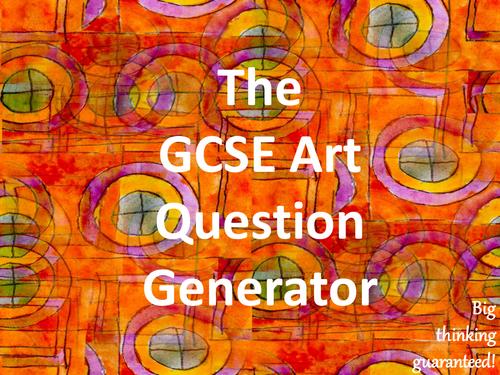 The GCSE Art Question Generator