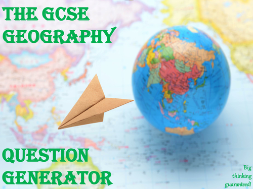 The GCSE Geography Question Generator