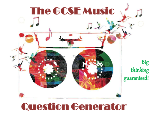 The GCSE Music Question Generator