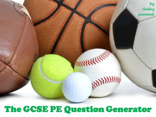 The GCSE PE Question Generator