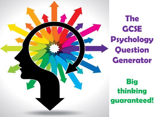 The GCSE Psychology Question Generator