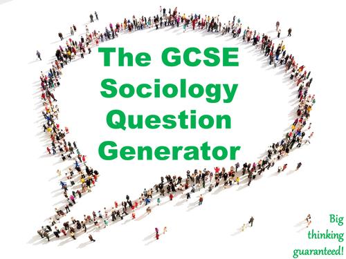 The GCSE Sociology Question Generator