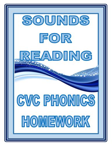 SOUNDS FOR READING: CVC PHONICS HOMEWORK CARDS