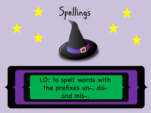 SPaG Year 3 and 4 Spellings: Prefixes un-, dis-, mis-