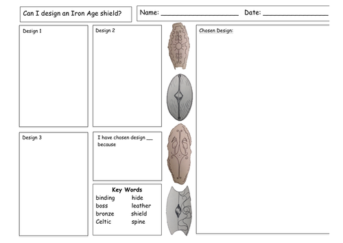 Iron Age Warriors: Shields (DT / History - KS2)