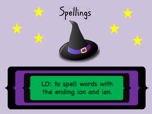 SPaG Year 3 and 4 Spellings: Words ending in -ion and -ian ('shun' sound)