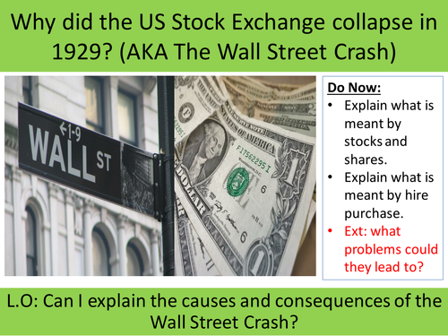 Why did Wall Street Crash in 1929?