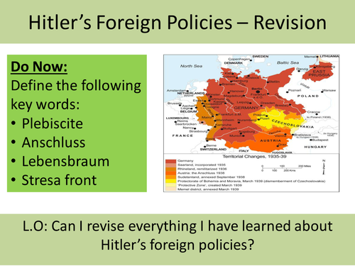GCSE Revision: Hitler's Foreign Policies
