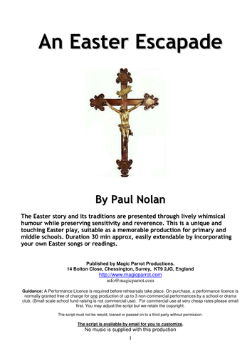 An Easter Escapade (Play Script for Primary/Middle Schools)