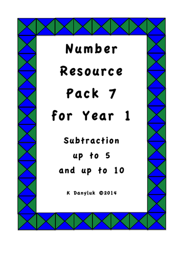 Teaching Number for Year 1 Resources Pack 7