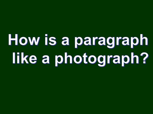 creative writing 5; crafting paragraphs